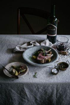 Local Milk | coriander & fennel marinated rack of lamb + mint chimichurri