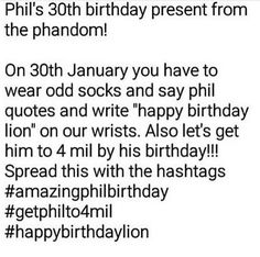 REPIN THIS TO YOU'RE BOARDS! #getphilto4mil<< #happybirthdaylion !!! WE LOVE YOU!!!