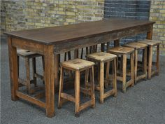 School Lab bench and stools - would make the most amazing kitchen table which would be at the right height for standing at to work. ALSO work bench for garage