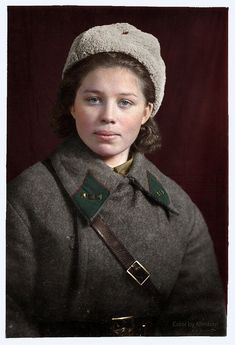 Soviet people of World War 2 in color