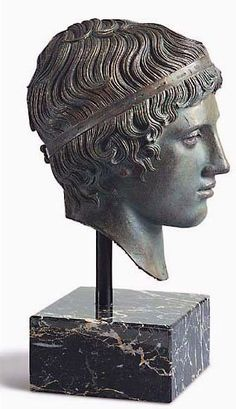 Ephebe Youth Bronze Head Hellenistic Sculpture Reproduction of the Bronze Bust of a Hellenistic Ephebe Youth Ancient Greek Sculpture, Ancient Greek Art, Roman Sculpture, Bronze Sculpture, Statues, Roman Gods, Art And Architecture, Art History, Sculpting