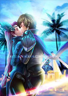 Gussion X Lesley Mobile Legends by HensenFM on DeviantArt Mobile Legend Wallpaper, Hero Wallpaper, Romantic Anime Couples, Cute Anime Couples, Bang Bang, Mobiles, Miya Mobile Legends, Alucard Mobile Legends, Moba Legends