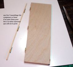 Making hinged doors with tubing - French