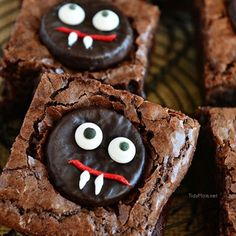 easy minty fudge vampire brownies start with your favorite brownie mix or recipe and are sure to please the kids and adults alike perfect for halloween - Great Halloween Appetizers