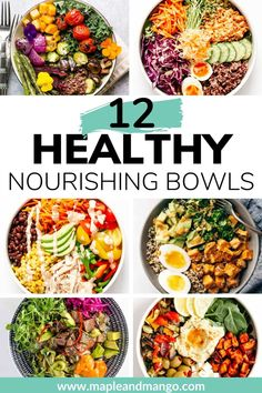 Looking for a balanced nutritious delicious and easy to make meal idea Learn how to build a healthy nourish bowl using this simple formula. Great for lunch dinner and meal prep Clean Eating Recipes, Lunch Recipes, Whole Food Recipes, Vegetarian Recipes, Healthy Eating, Vegan Vegetarian, Simple Healthy Meals, Healthy Vegetarian Lunch Ideas, Simple Healthy Dinner Recipes