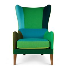 Lekker chair Ludovic Mariault curator for marketplaces : interesting patchwork of colors