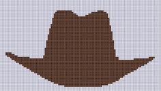 Cowboy Hat Cross Stitch Pattern