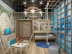 Как сделать детскую комнату в морском стиле   Строительный портал