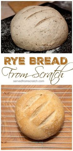 From Scratch Rye Bread!  It's easier than you think!!
