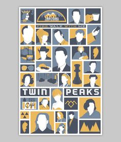 Twin Peaks poster by WilliamHenryDesign on Etsy, $20.00