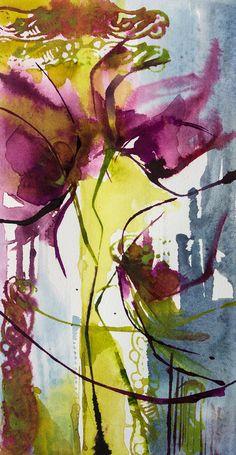 Petit instant N°334 (Peinture),  10x10 cm par Véronique Piaser-Moyen Aquarelle originale sur papier 300G