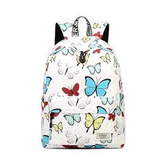 7472e79839b6 Backpacks for Women Fashion Travel Shoulder Bags Butterflies Prints Zipper  School Bags Teenagers Bolsa Girls Feminina Mochilas