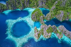 Aerial view of Twin Lagoon in Coron, Palawan, Philippines Voyage Philippines, Les Philippines, Coron Palawan, Siargao, Top Honeymoon Destinations, Amazing Destinations, Travel Destinations, Puerto Vallarta, Paradis Tropical