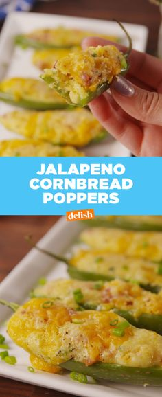 The cornbread is inside the jalapeño. I repeat, the cornbread is inside the jalapeño.