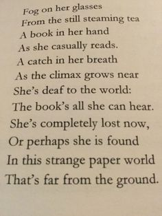 Beautiful poem about #reading