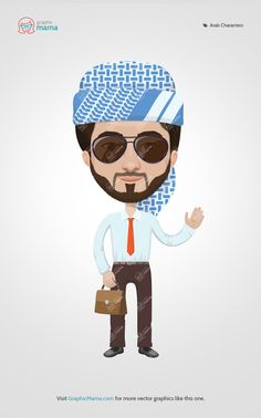 76 Best Arab Men and Women Vector Cartoon Characters images
