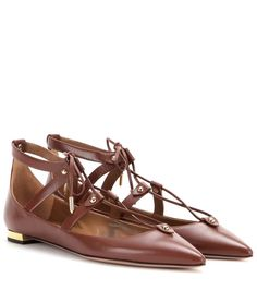 mytheresa.com - Bel Air leather ballerinas - Luxury Fashion for Women / Designer clothing, shoes, bags