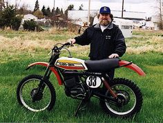 Buck James Murphy Factory rider for Penton and CanAm motorcycles. Very Fast! James Murphy, Vintage Motocross, Honda S, Bobber Motorcycle, Old Images, Can Am, S Pic, Bucky, Old School