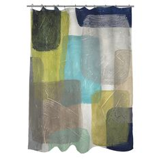 The design on this colorful Thumbprintz shower curtain lends aesthetic value to your space, while the easy-care polyester material makes laundering a breeze. Buttonholes along the top make this piece easy to hang.