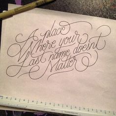 Legible Flourish ~ Stunning hand drawn lettering & calligraphy | From up North