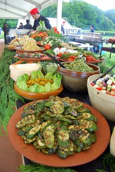 salads and side dishes for spit braai (spit roast)