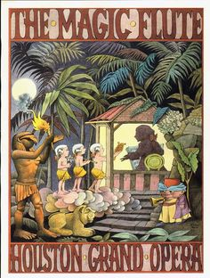 Mozart's Magic Flute Maurice Sendak Houston by SurrenderDorothy, $16.89