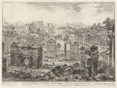 Giovanni Battista Piranesi | View of the Campo Vaccino, The Forum Romanum, from the Capitoline Hill, from Vedute di Roma, Views of Rome | Yale University Art Gallery | Buy Prints Online