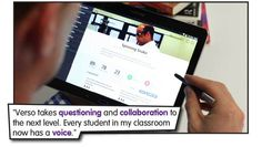 Verso - app to flip instruction by using authentic student voice as a driver for deeper, personalized learning design