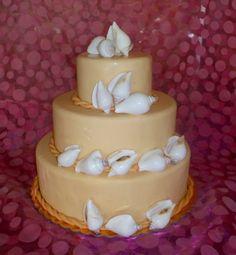 Handmade wedding cake shells