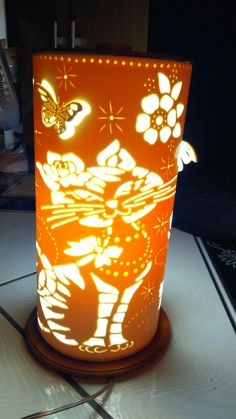 Led Diy, Wooden Art, Arts And Crafts, Table Lamp, Pottery, Clay, Ceramics, Paper, Home Decor