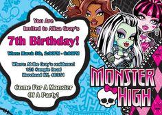 Monster High Birthday Card