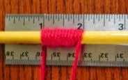 Wraps Per Inch (WPI) method for determining how much yarn is needed