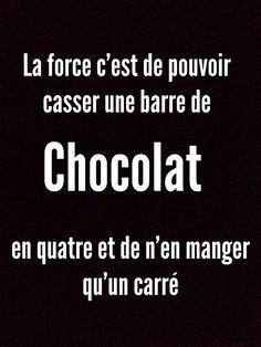 La citation spéciale chocolat, ou la force de résister !