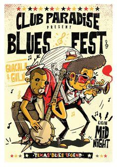 Gavilán + Guacala //  BLUES FEST // Colab 2018 // Digital illustration #illustration #blues #music #gavilan #guacala Texas, Blues Music, Digital Illustration, Comic Books, Comics, Cover, Poster, Illustrations, Legends