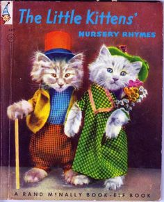 The little kittens, Harry Frees illustrations colorized