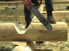 Caribou Creek Handcrafted Log Home - Warner Full Scribe 06-10-09 - 5 - YouTube