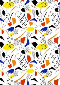 Abstract Life For 'The Modernists' by Elie Laucher modern abstract, design, print, pattern Motifs Textiles, Textile Prints, Textile Patterns, Pretty Patterns, Color Patterns, Design Patterns, Surface Pattern Design, Pattern Art, Graphic Patterns