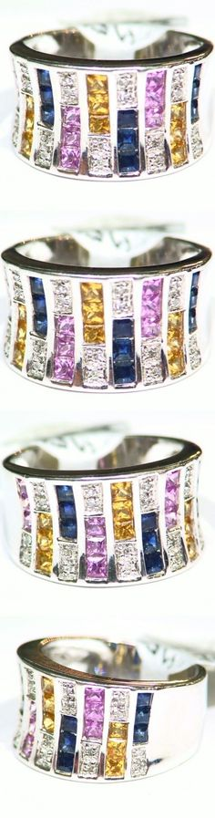Rings 165044: 1.94Ct 14K Gold Natural Sapphire Cut White Diamond Vintage Engagement Ring Band -> BUY IT NOW ONLY: $981 on eBay!