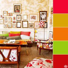 paleta de cores e quadros diversos.