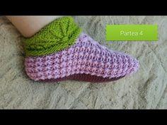 Botoșei tricotati Partea 4 - YouTube