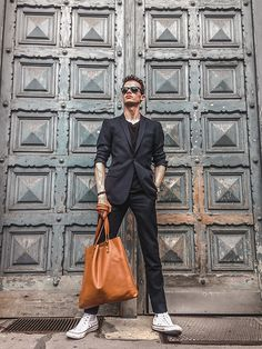 Get this look: http://lb.nu/look/8423551  More looks by Anton Dee: http://lb.nu/antondee_  Items in this look:  Topman Suit, Forbes & Lewis Bag   #classic #dapper #formal