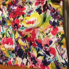 Pansy Skirt Jones Wear Skirt, size 14, multi colored, new with tags Jones Wear Skirts Midi