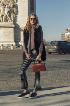 Photo Credit: Phill Taylor Hi everybody! I love coming to Paris for the Haute Couture shows and this season is no different! For my first look of the week I played with prints by pairing a polka-do...