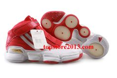 Adidas adiPure Basketball Shoes In Red/White
