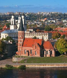 Towers of Kaunas, a photo from Kauno, South Lithuania Travel, Baltic Region, Regions Of Europe, Uganda Travel, Malta, Kaunas Lithuania, Baltic Sea, Place Of Worship, Eastern Europe