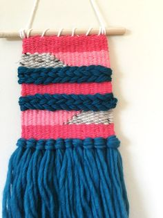 Wall Hanging Weaving Colorful Wall Art Woven by SarahHarste