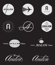 aviation logos different uses of a company name