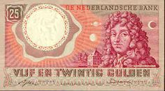 Nederlands geld uit de jaren 50 tot 70  25 guldenbiljet voorkant