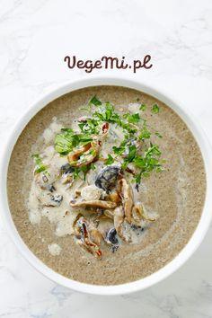 Zupa krem z pieczarek Hummus, Vegan, Dinner, Ethnic Recipes, Dining, Food Dinners, Vegans, Dinners
