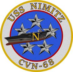 USS Nimitz CVN-68 Ship's Insignia Patch by viperaviator Air Force, Uss Nimitz, Us Navy Ships, Military Insignia, Top Gun, Aircraft Carrier, Captain America, Wwii, Badge